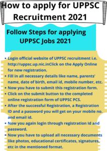 How to apply for UPPSC Recruitment
