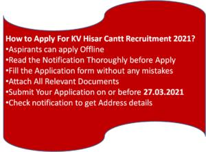 How to apply for KV Teachers Recruitment?