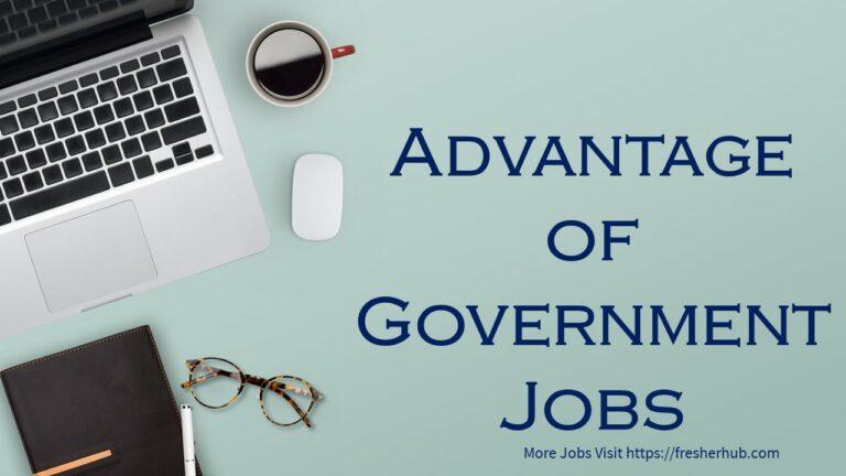Advantage of Government Jobs
