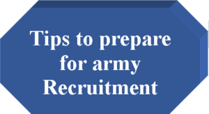 tips to prepare for army jobs
